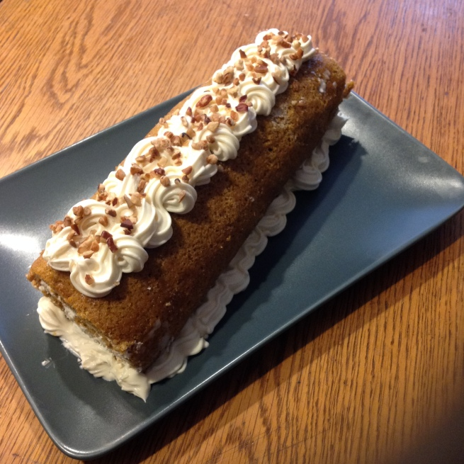 Pumpkin roll for New Years
