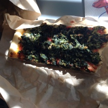 spinach pizza strips